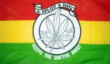 A SPLIFF A DAY - 5 X 3 FLAG